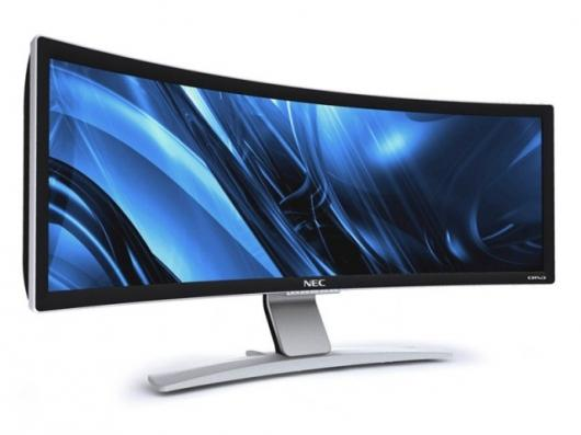 The NEC CRV43 in all its ultra-widescreen curved glory