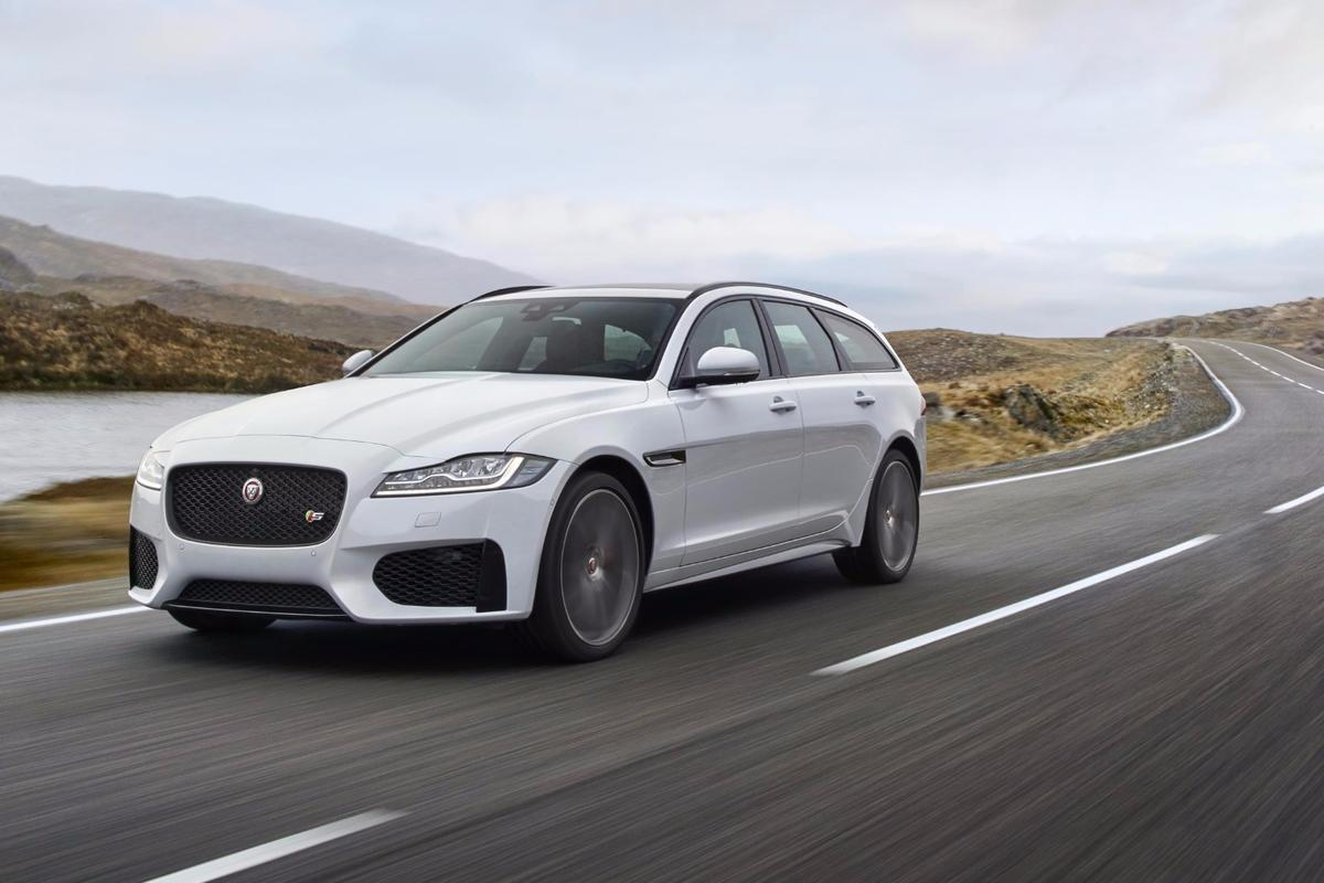 Jaguar's XF Sportbrake is powered by a 380-hp supercharged V6