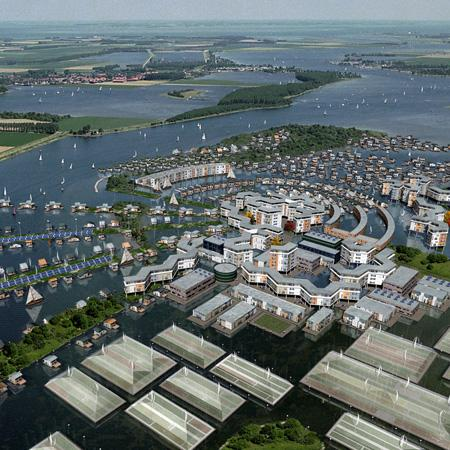 "How a future ""floating city"" might look thanks to technology developed in the FLOATEC project"