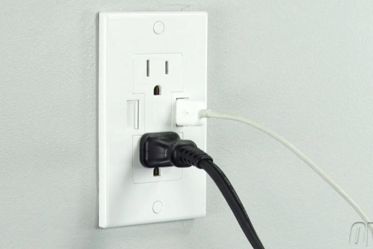The Power2U AC/USB Wall Outlet lets you charge devices via a USB Cable, directly from the wall