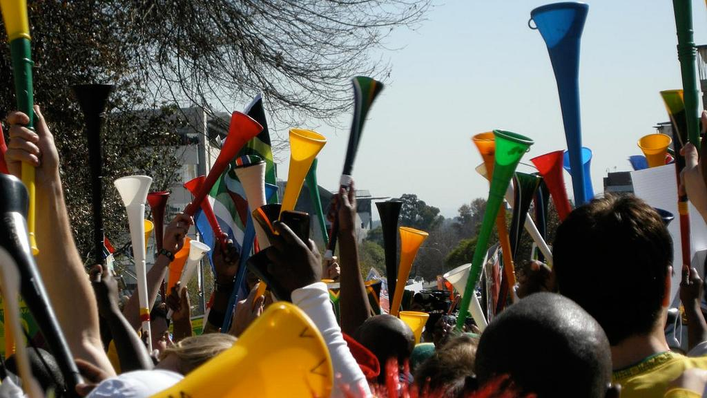 EyeTV can now filter out much of the annoying droning on World Cup broadcasts thanks to a Vuvuzela Filter (Image: Manuguf via Wikipedia Commons)