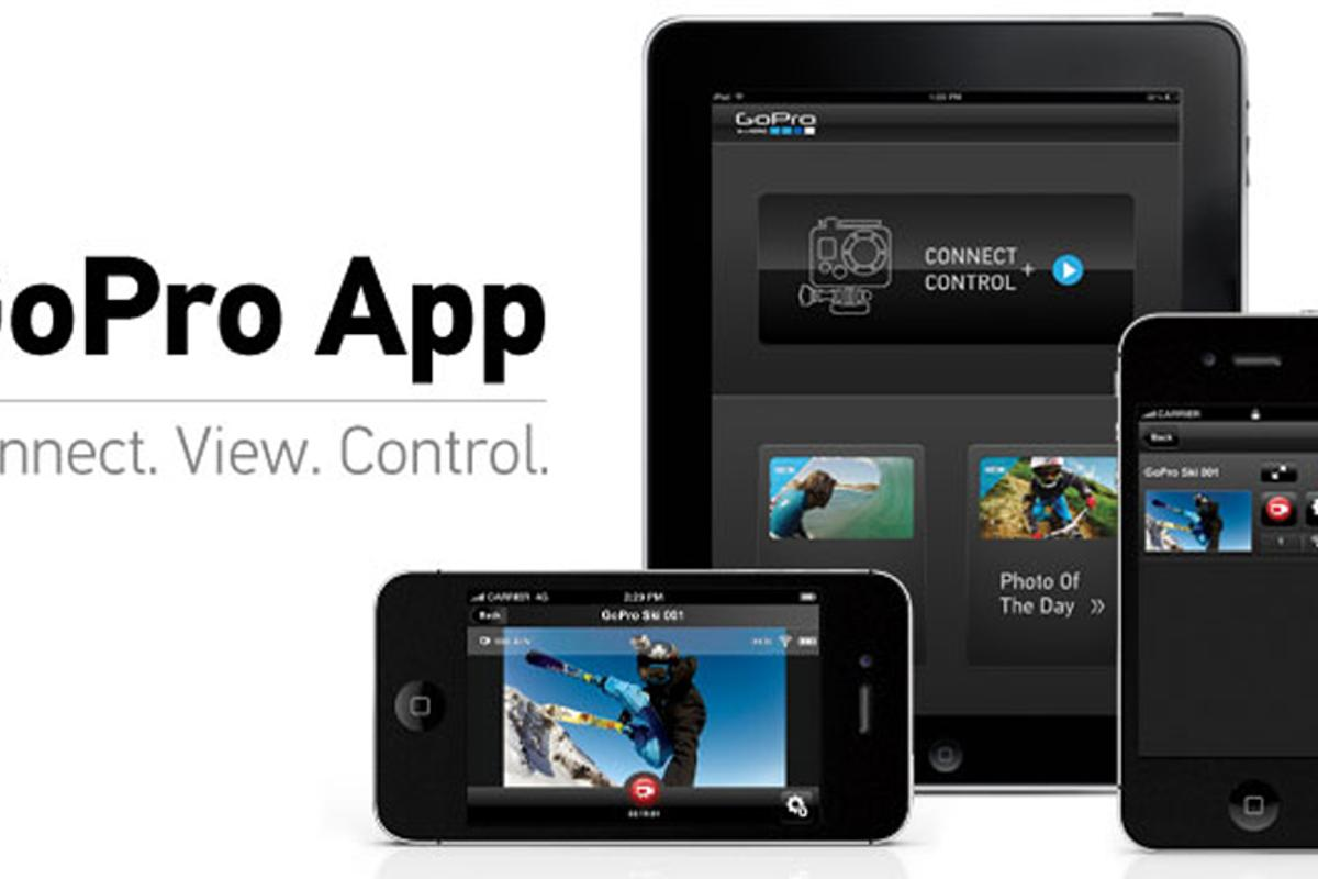 The GoPro app gives full control of the camera's settings and live scene-preview