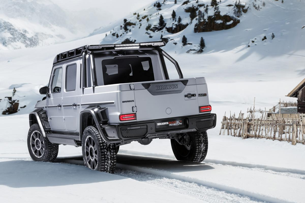 Brabus built a ladder frame extension and pickup bed for the AMG G63