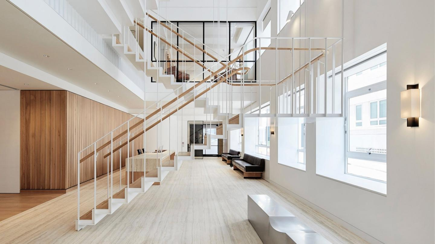 Shortlisted for theRIBA London Awards 2018, is this refurbished office space,25 Saville Row, byPiercy & Company