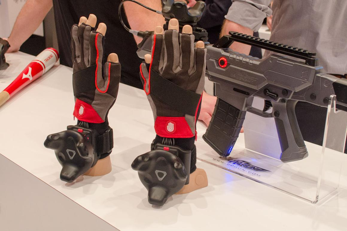 With the ViveTracker, anything can be a VR controller – gloves, bats, guns and more