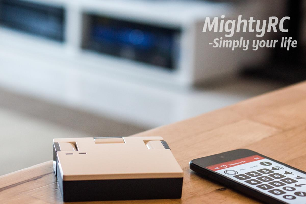 The MightyRC channels infrared signals from different household appliances and transmits the data to your smartphone for easier control