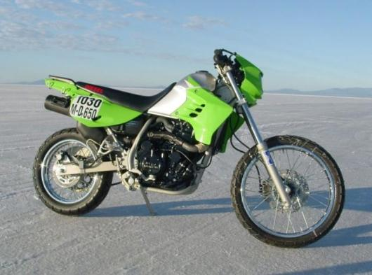 The bike was officially timed by the AMA at 85.466mph, giving it the World record for a motorcycle with diesel engine.