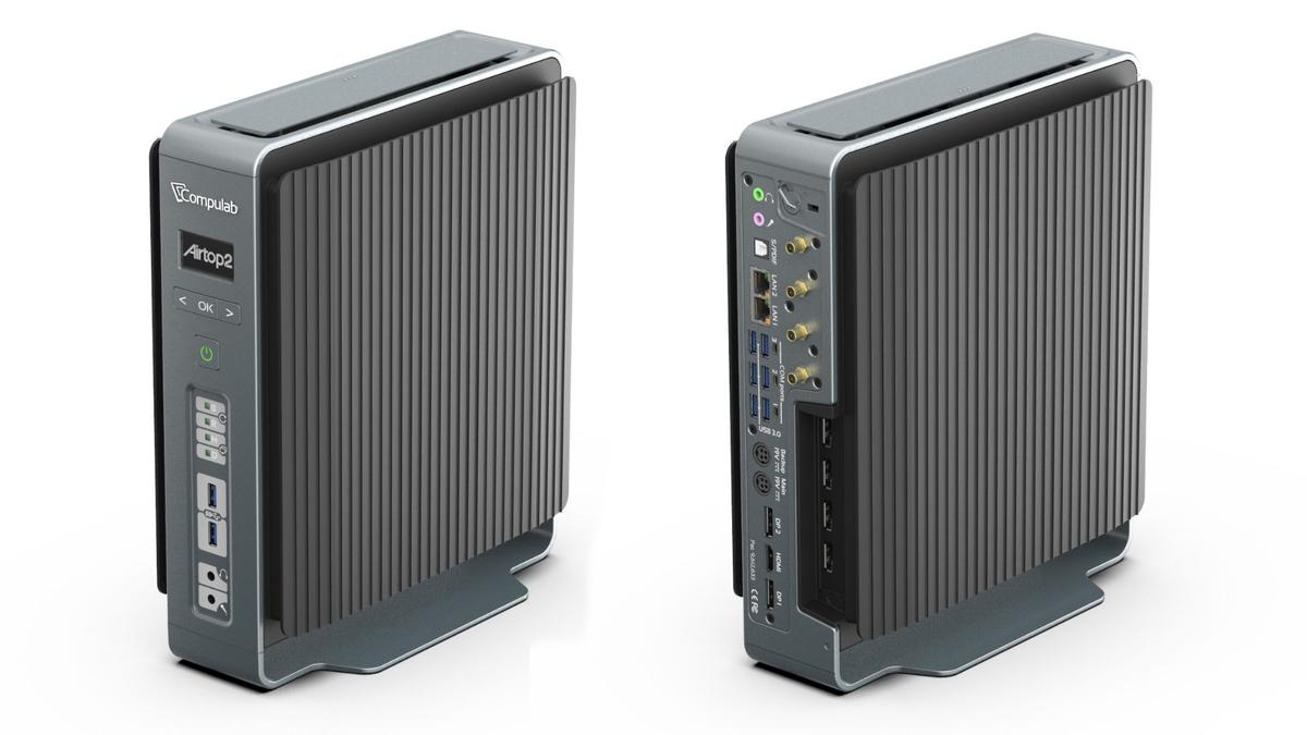 No moving parts, no maintenance: The Airtop2 fanless PC from CompuLab