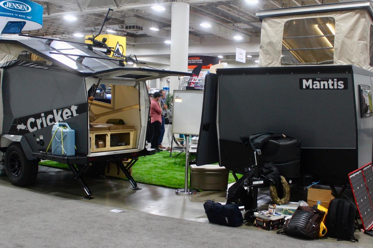 Since we first looked at the original Cricketin 2012, Taxa Outdoors has grown a full lineup of NASA-inspiredcamping trailers named after creepy-crawlies, from the super-simple Woolly Bear to the stretchedMantis