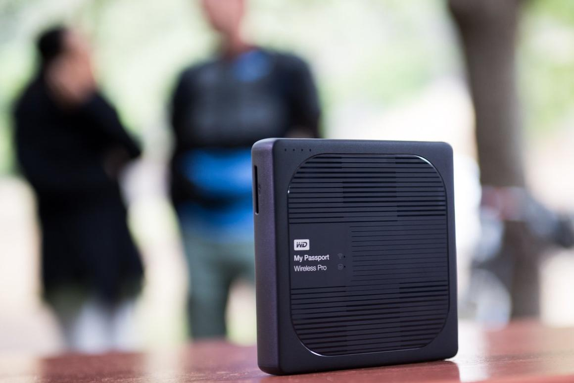 WD's MyPassport Wireless Pro is designed to make it easy for creative professionalto save and share data in the field