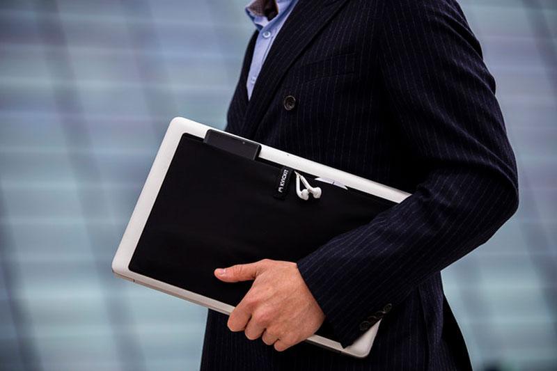 KVICKIT isthe world's first stick-on, on-the-go laptop organizer
