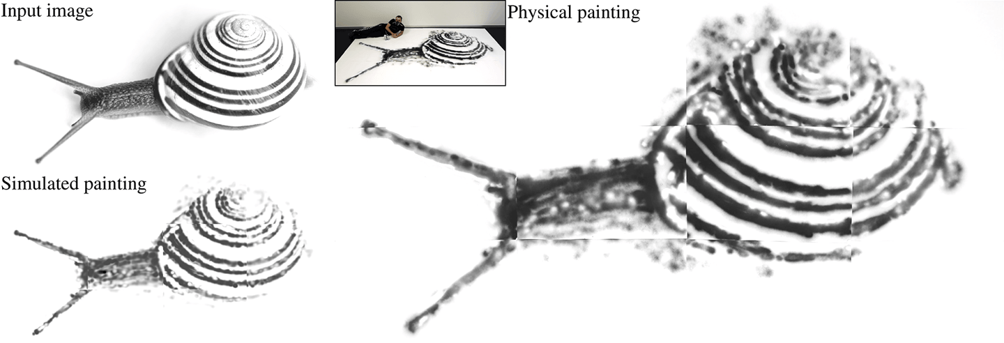 """The smart spray can system """"blows up"""" small photos into accurate painted murals"""