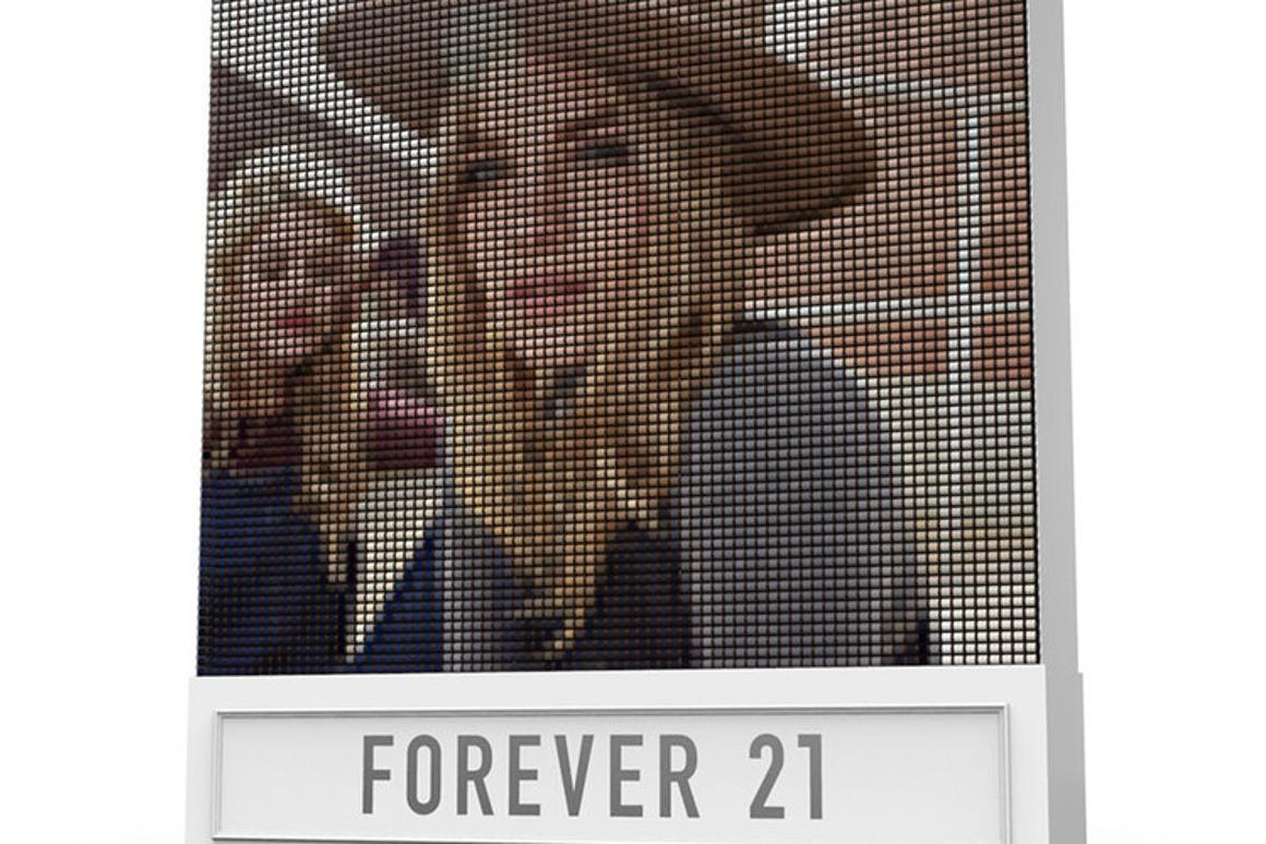 F21 Thread Screen was created to promote clothing brand Forever 21