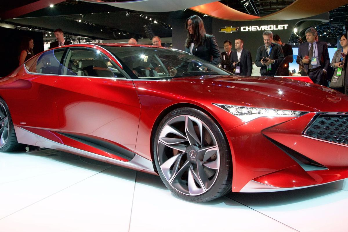 Acura's Precision Concept, making its debut in Detroit