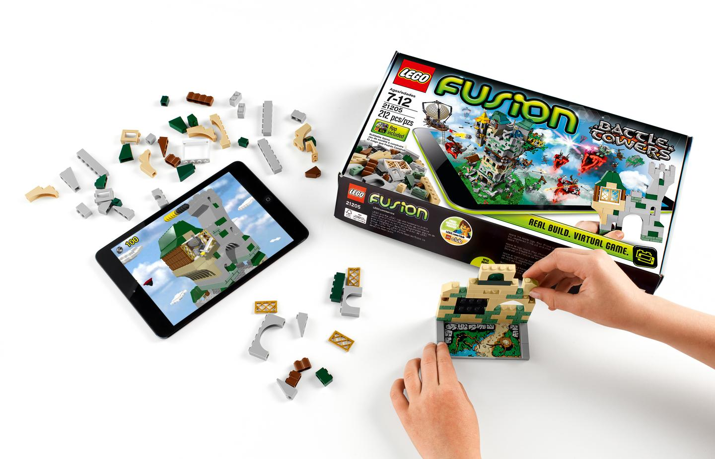Lego Fusion Battle Towers requires players to build a tower and then defend it against virtual attack in a bid to rule a kingdom