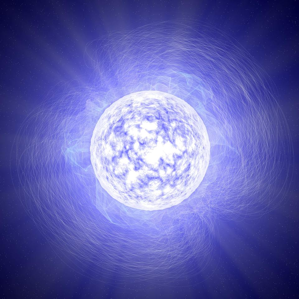 It's predicted that the intense magnetic field of a neutron star could convert dark matter into detectable photons
