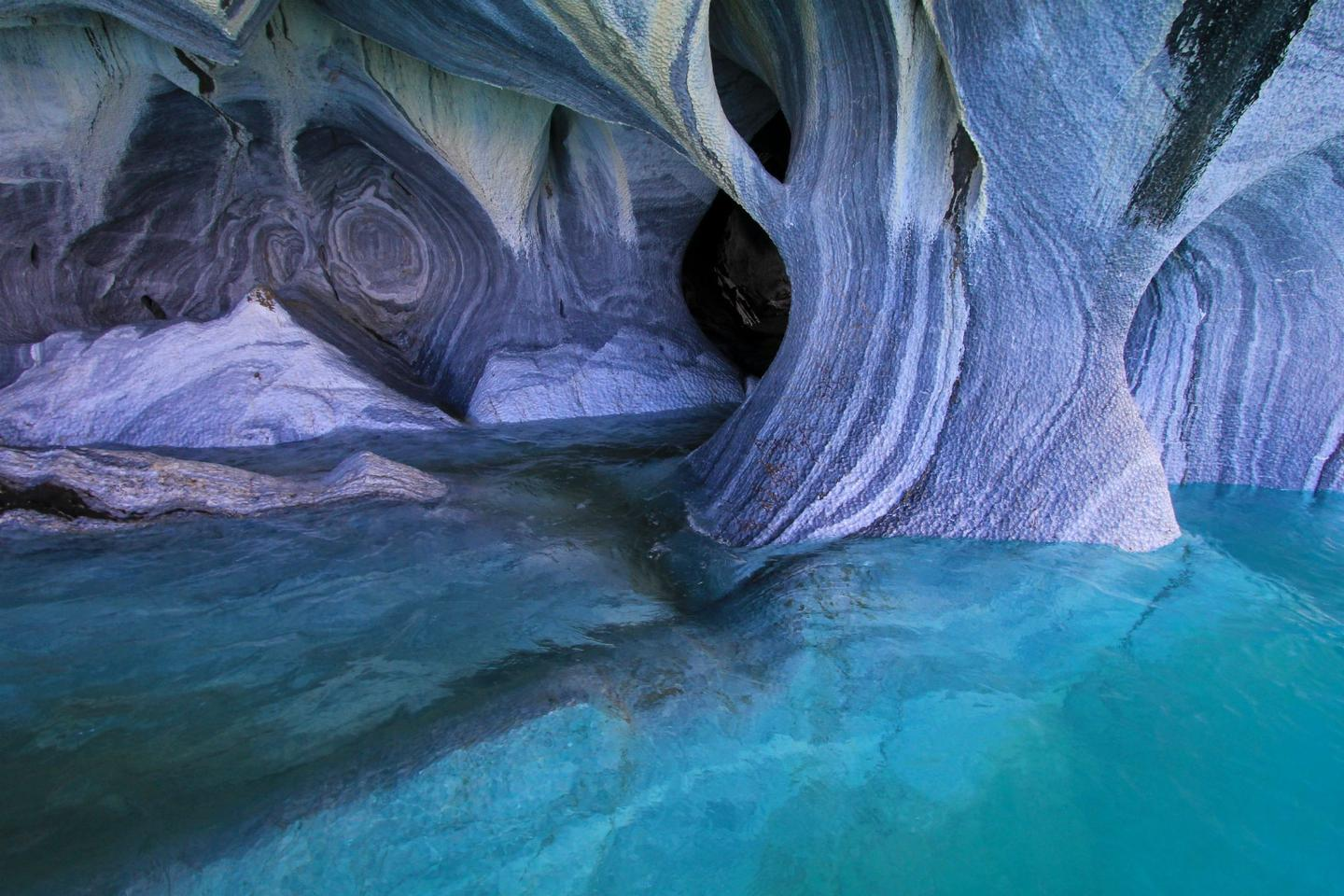 Carved into the Patagonian Andes in Chile, Las Cavernas de Mármol (Marble Caves) are among Patagonia's most incredible natural wonders