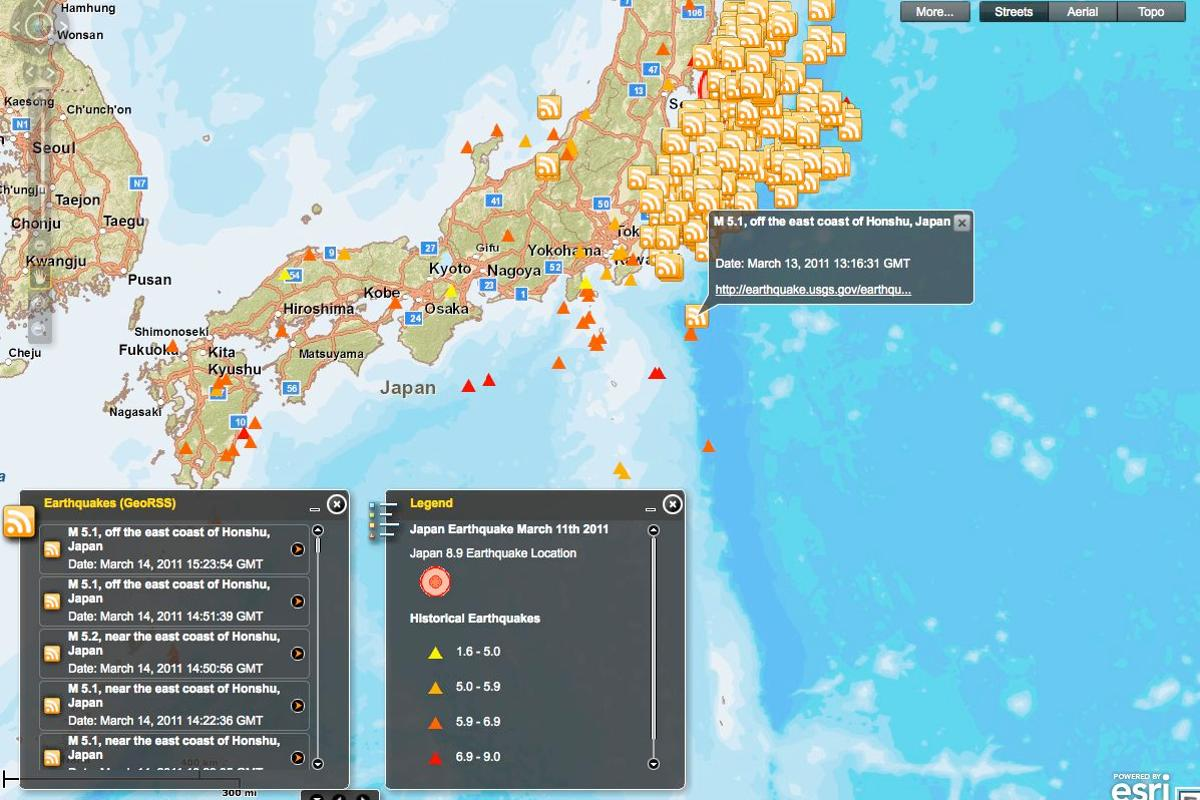 Texas Tech University has created an online world map that details the aftershocks of the Japan earthquake, in near-real-time (Image: Texas Tech)