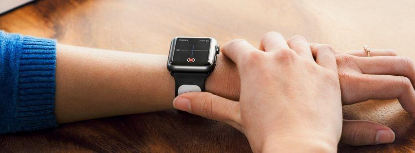 AliveCor's KardiaBand is anelectrocardiogram device for the Apple Watch