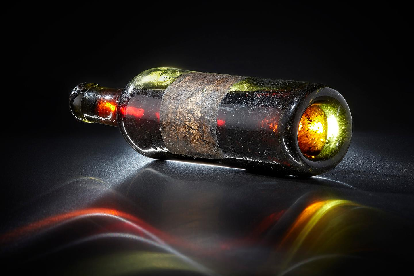 Only three bottle were known of the 1762 Gautier Cognac. The bottle pictured was auctioned by Bonhams in New York on April 30, 2014, selling to Polish company Wealth Solutions for US$59,500 and has subsequently been opened and its contents dispersed into a range of high-priced merchandise - watches, coins and fountain pens. Another of the bottles is now in the Gautier Museum and can be expected to remain there for the foreseeable future. The third and largest bottle will sell at auction on May 28, 2020. It is the only publicly available bottle of the world's oldest Cognac, and competition to own it is expected to be ferocious.
