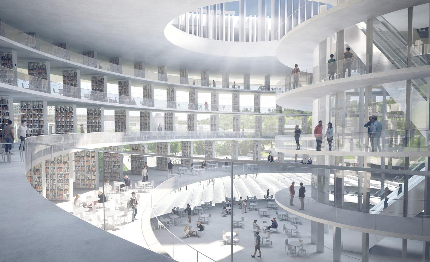 The Shenzhen Institute of Design and Innovation's interior will measure 300,000 sq m (roughly 3.2 million sq ft)
