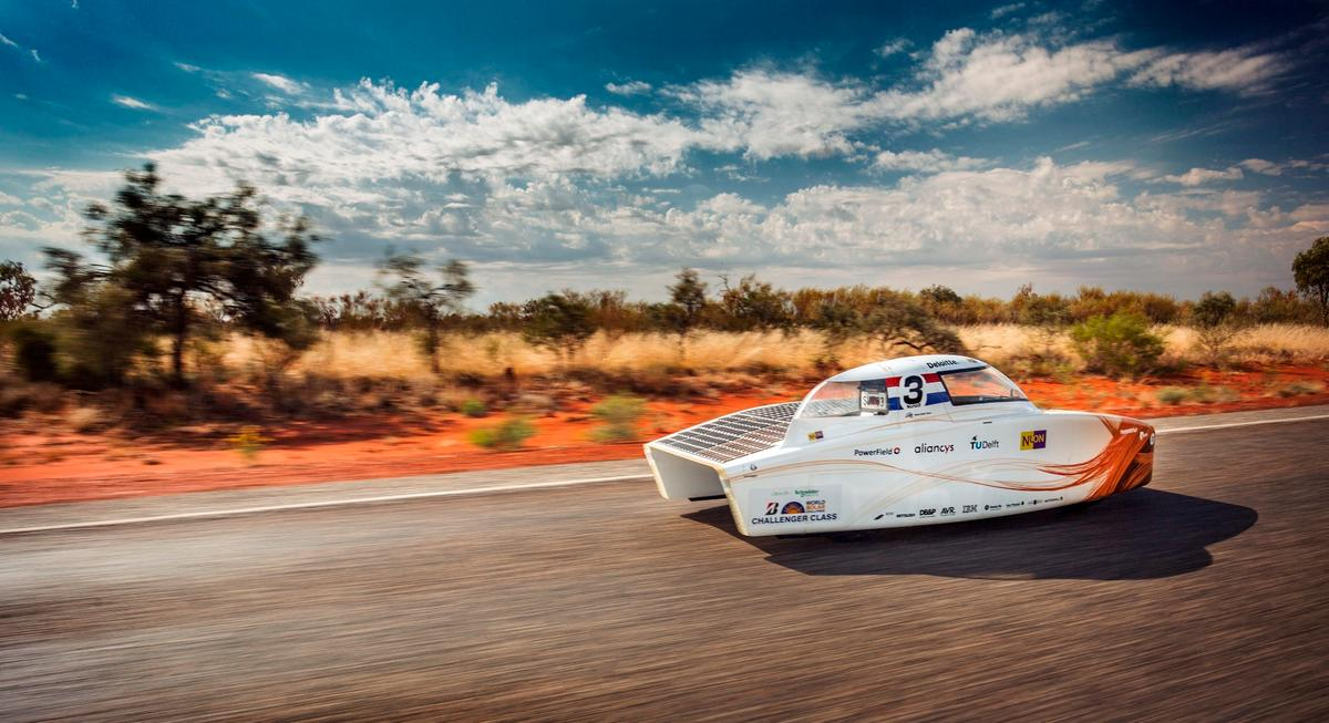 The rain and clouds to befall the field on day three of this year's even certainly did the Netherland's Nuon Solar Team no harm