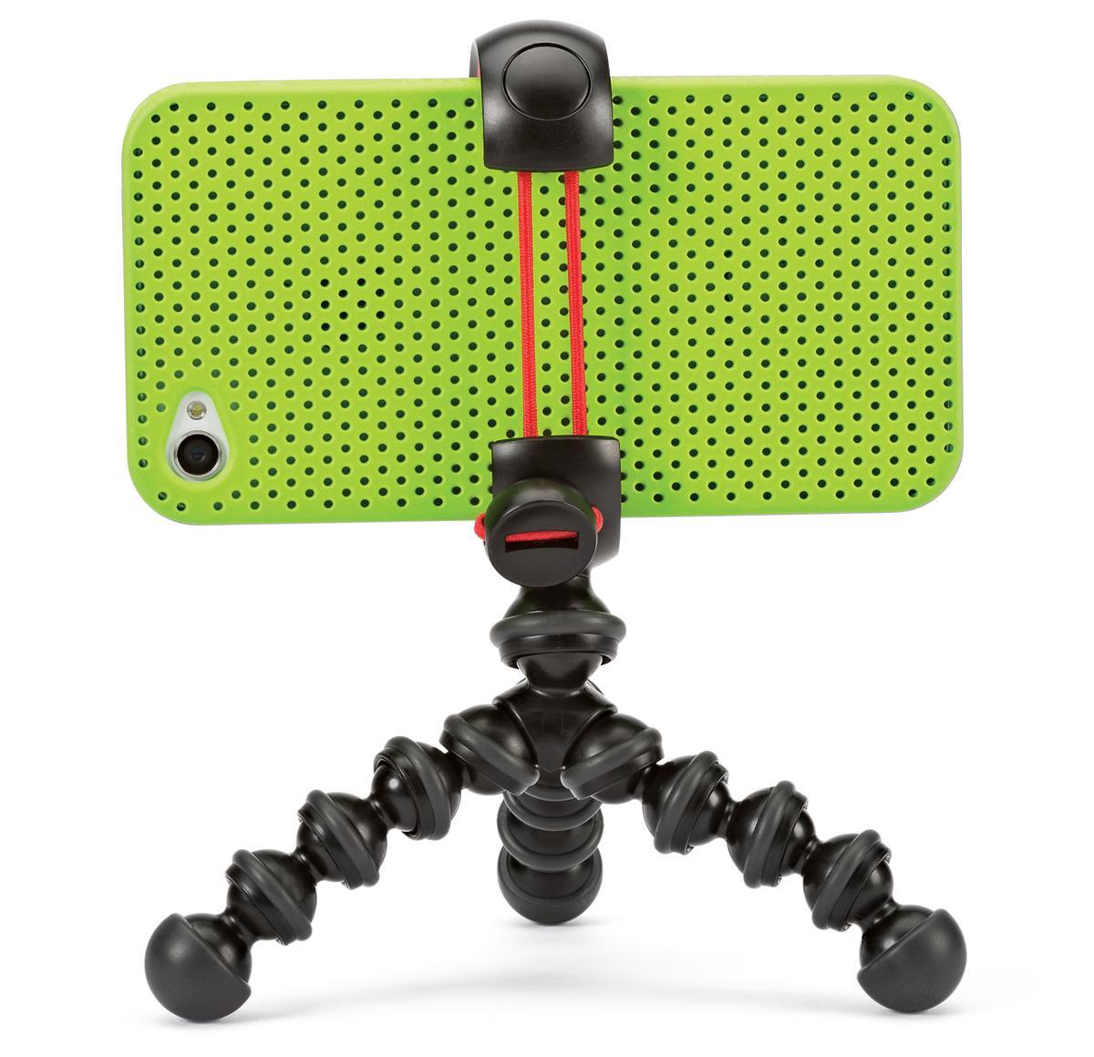 The Joby MPod Mini Stand fits most popular smartphones