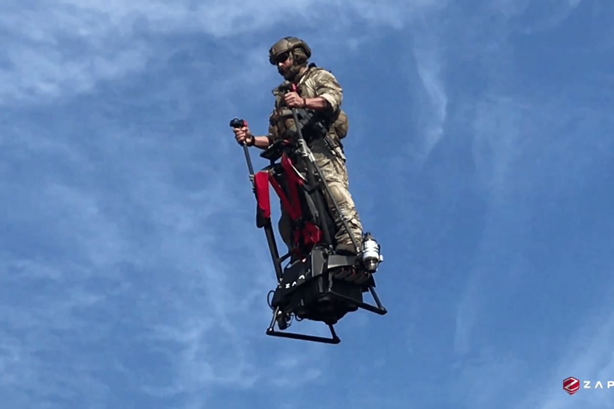 The Zapata Ezfly isa jet-powered flying Segway that it seems almost anyone can fly