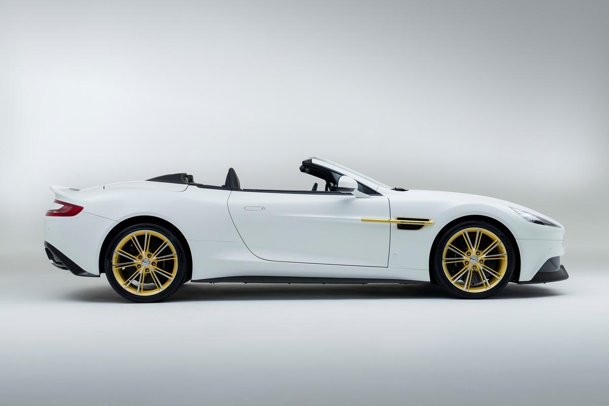 The special editions are powered by the standard Vanquish 6.0-liter V12