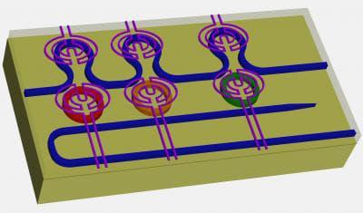 "The design for new silicon ""microring resonators"" (Image: Purdue University, Minghao Qi)"