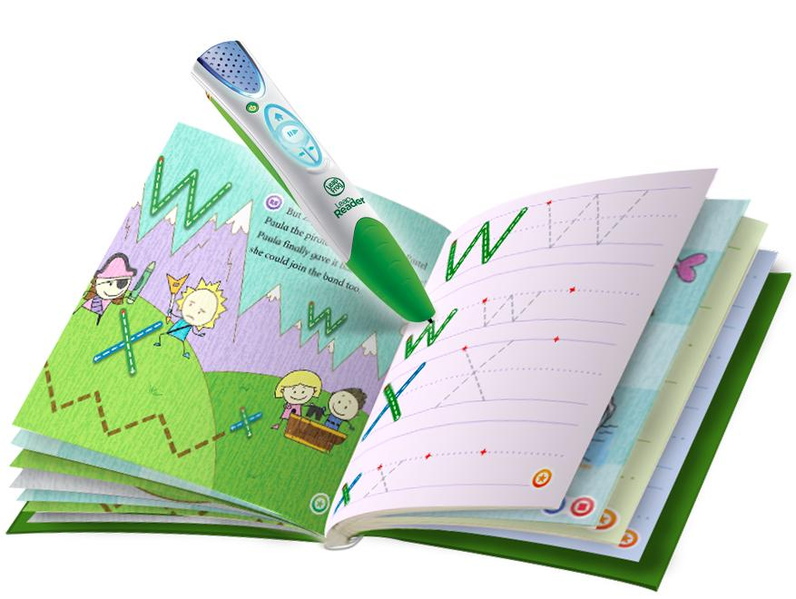 With the LeapReader users touch letters and words in the specially printed books with the tip of the chunky pen to hear the sounds letters make, and how words are pronounced