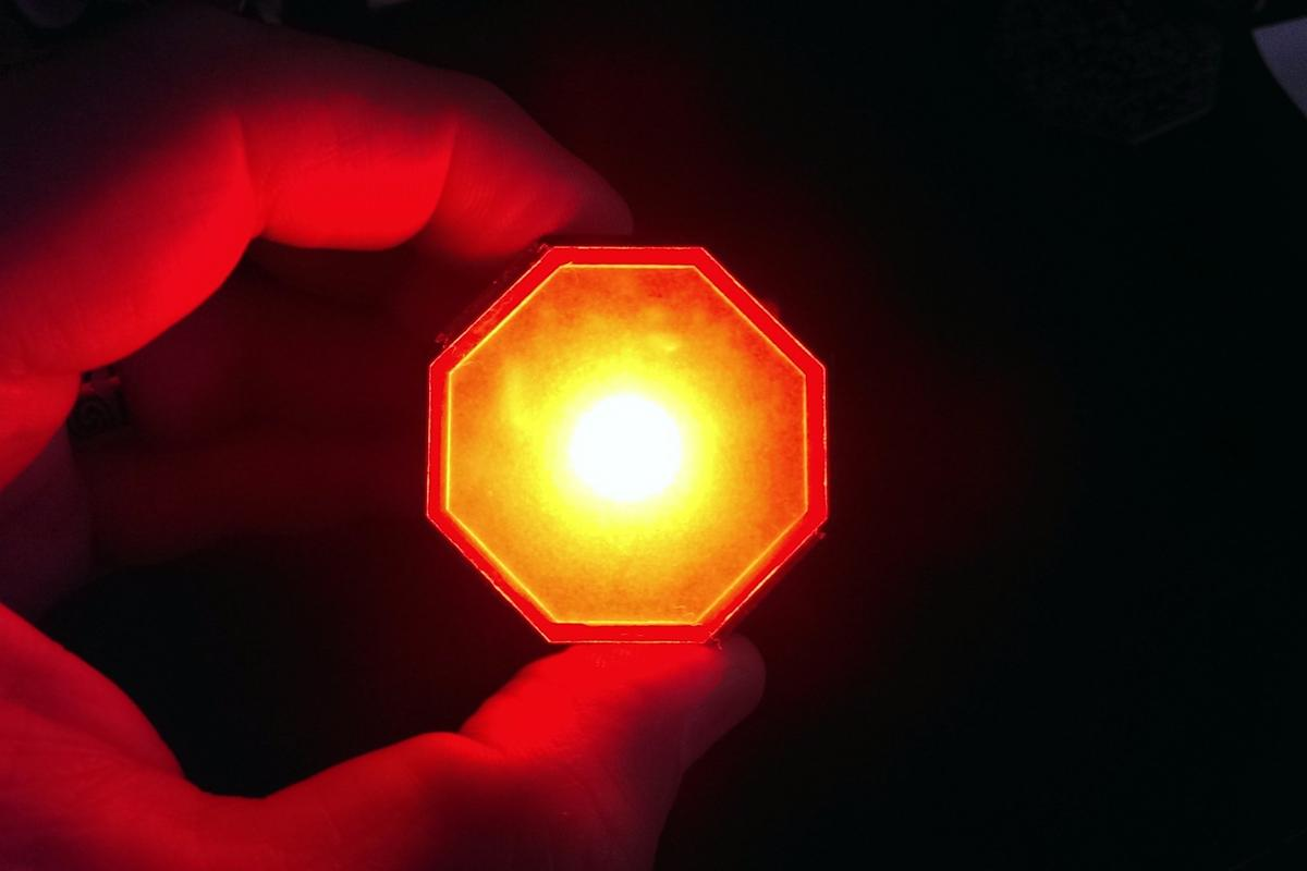 Stoptix is designed to detect deceleration and light up regardless whether the brakes are applied or not
