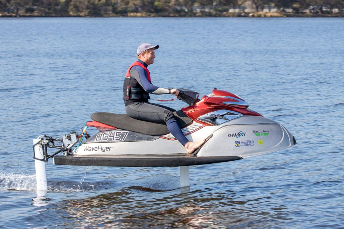 The WaveFlyer electric hydrofoil jetski is currently in the prototype stage of development
