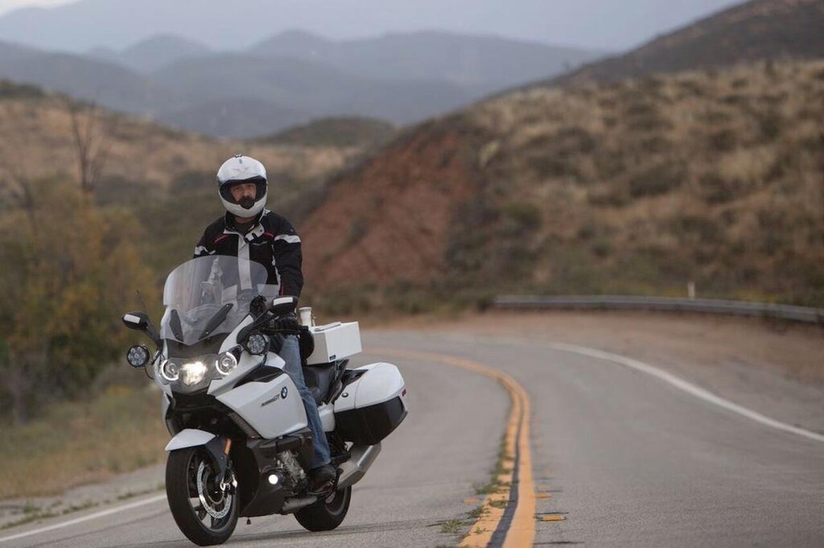 Distance rider Carl Reese on his BMW K1600GT