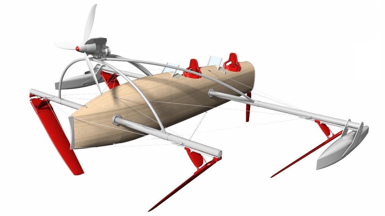 The prototype wFoil 18 Albatross