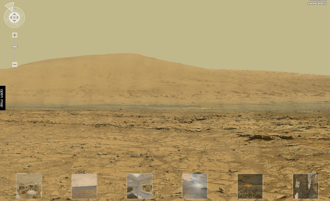 The four gigapixel panorama creates a Street View-like experience on the surface of Mars