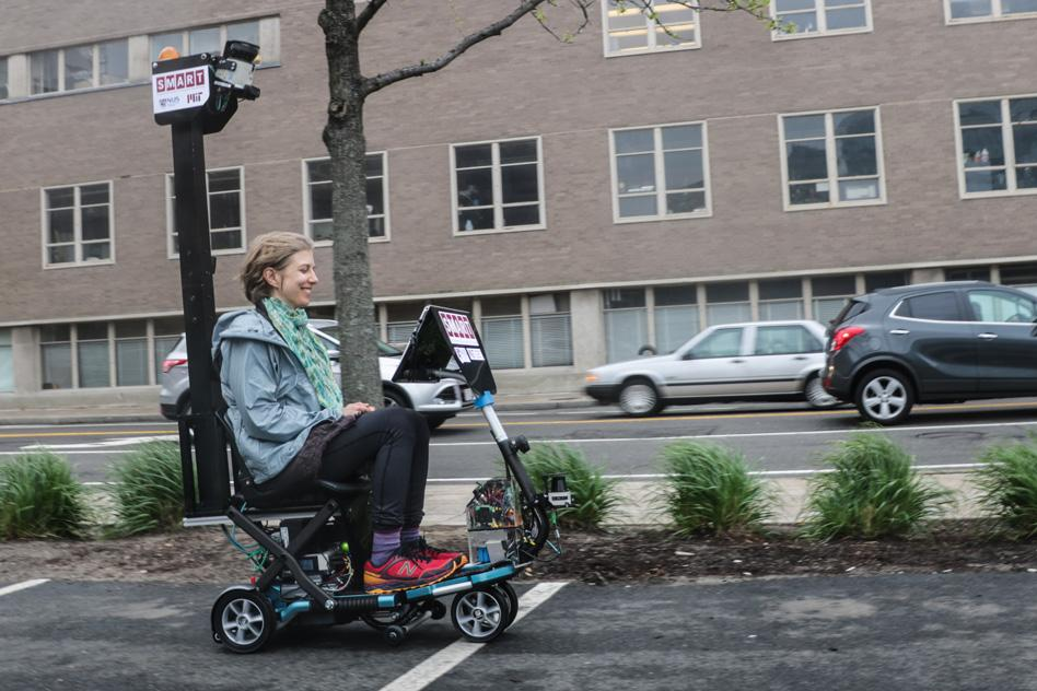An autonomous mobility scooter runs new algorithms thatare said to work both indoors and outdoors