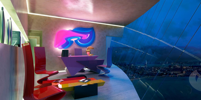 "Pierre Cardin's proposed ""Light Palace"" (Image: Palais Lumiere)"