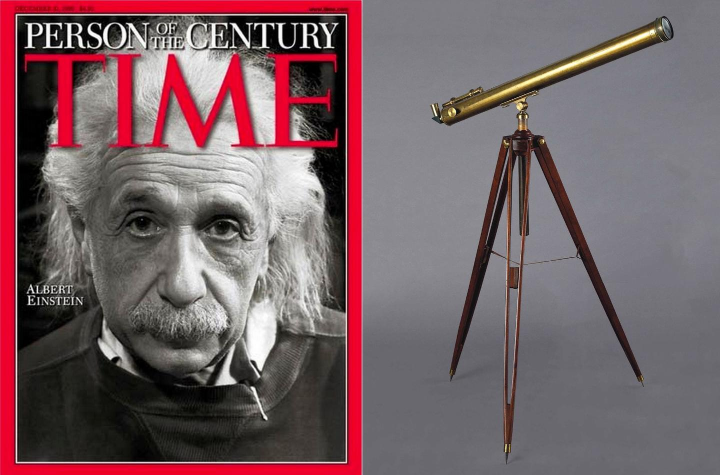 Albert Einstein's telescopefetched a healthy $432,500 at auction, becoming one of the most valuable scientific instruments ever sold at auction.