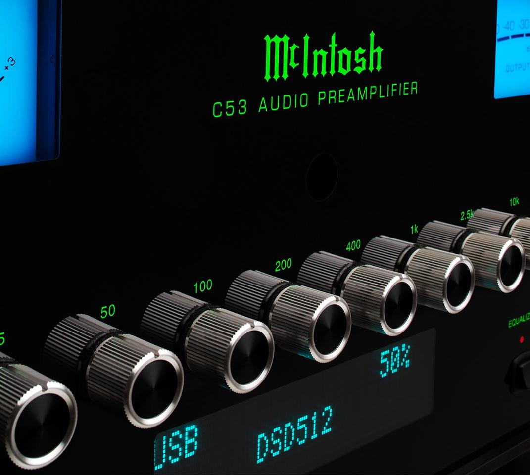 The included 8-band equalizer allows for± 12dB of adjustment