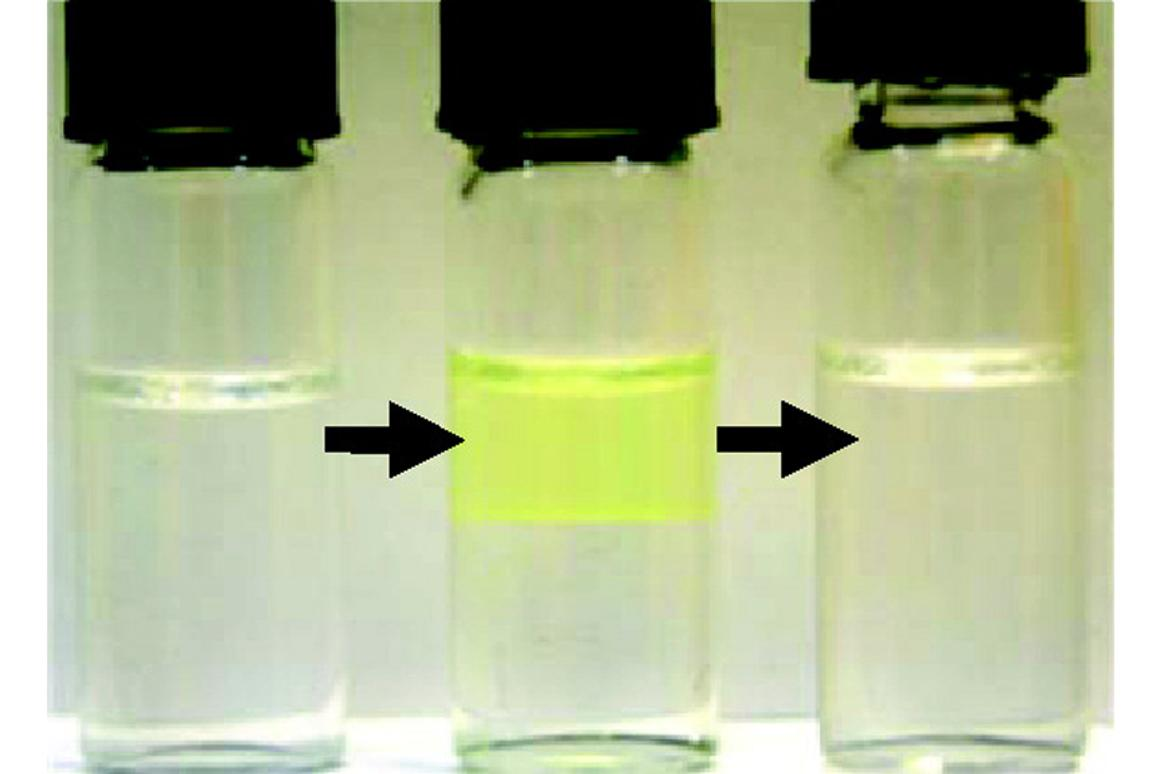 Nanoparticles suspended in a microemulsion can be easily separated when heated