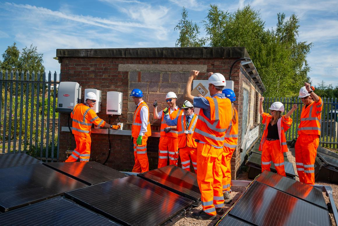 The First Light demonstrator project from Riding Sunbeams, climate change charity 10:10, Community Energy South and Network Rail was switched on today