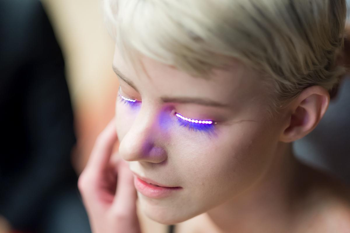 f.lashes LED eyelashes look like the perfect accessory for a rave