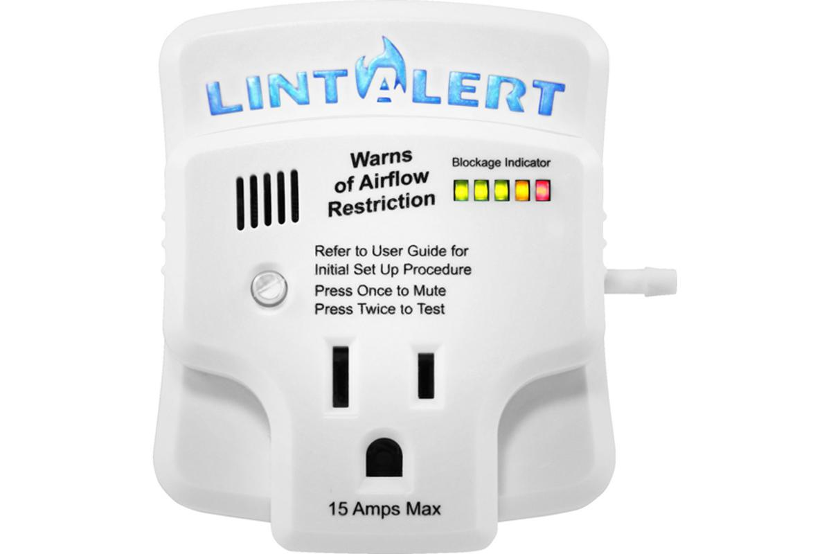 The LintAlert lets homeowners know when their clothes dryer is becoming a fire hazard and wasting electricity