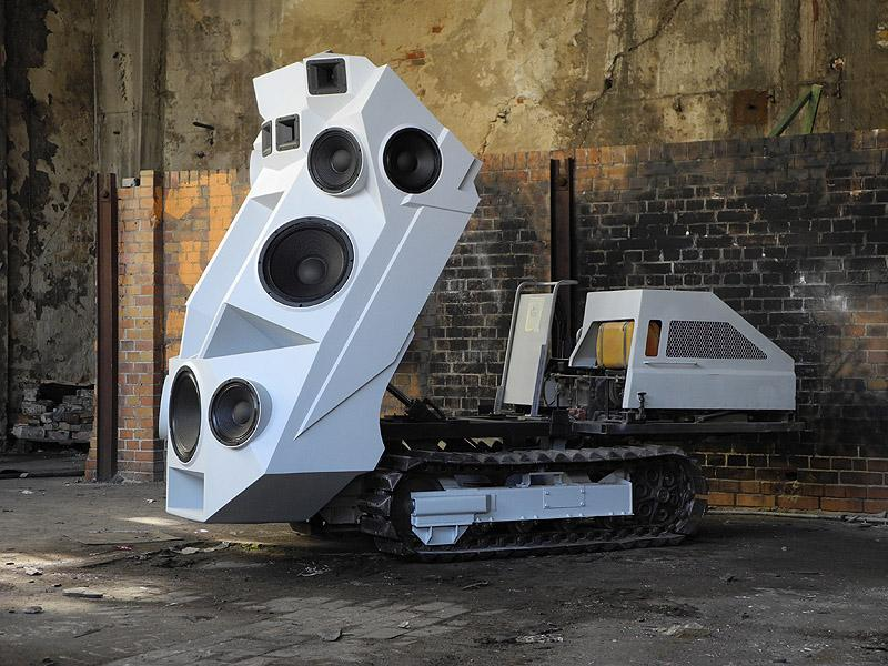 Nik Nowak's 'Tank,' with its speaker wall raised