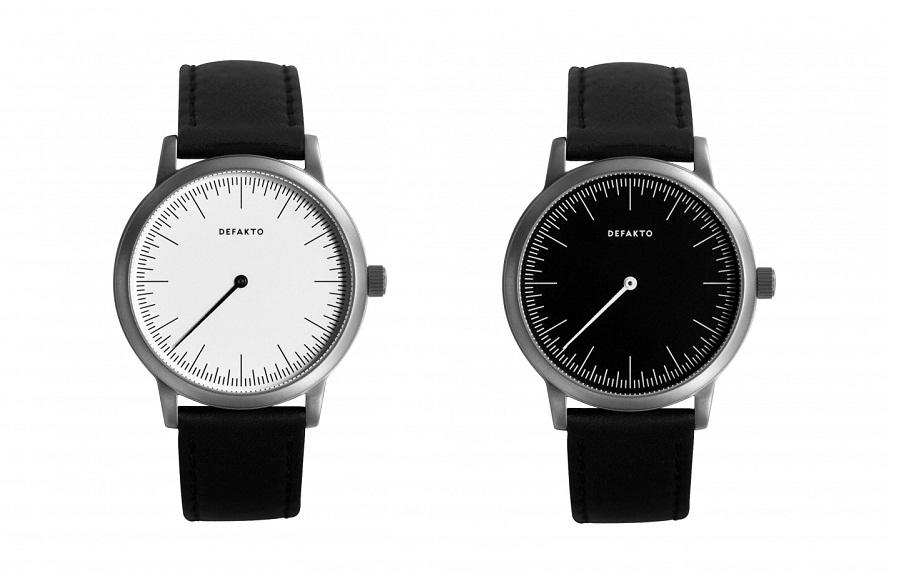 The Defakto Detail one hand watch is simple, elegant, and understated