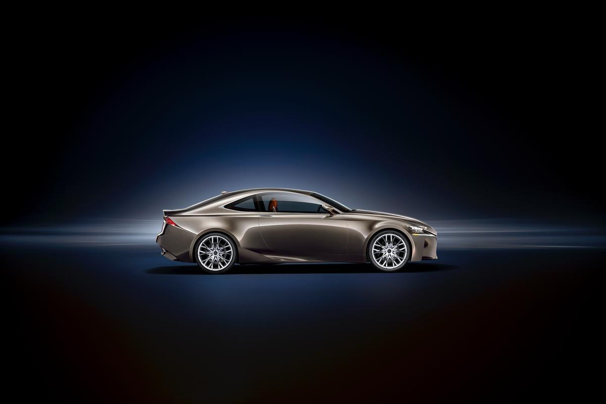 The Lexus LF-CC mid-sized coupe concept that will make its world debut at the 2012 Paris Motor Show
