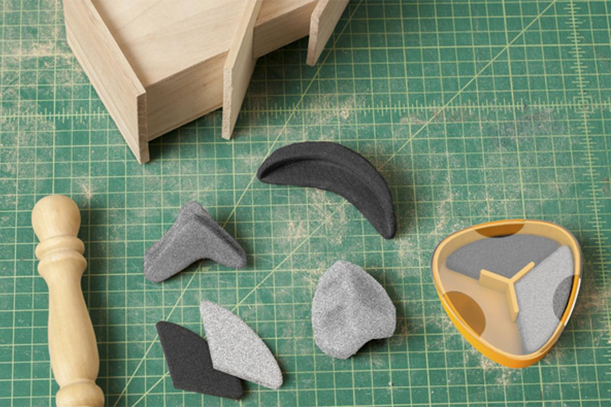 Sandables are a set of sanding tools that can be reshaped like gritty modeling clay to suit any woodworking task