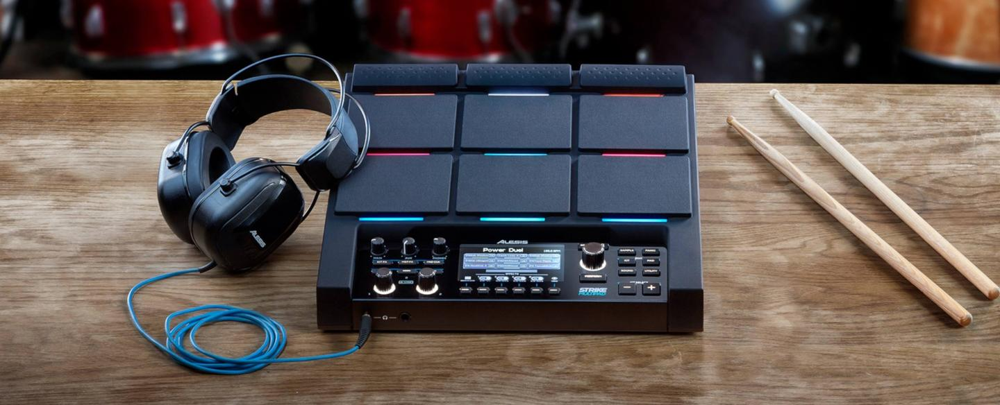 "Alesis describes the Strike MultiPad as an ""incredibly capable and versatile device that far surpasses the performance and creative potential of any previous electronic drum pad"""