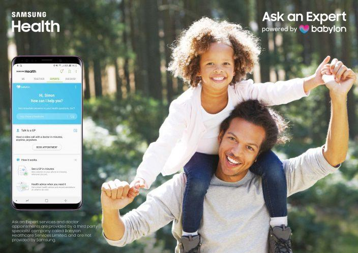 TheAsk an Expert, powered by Babylon service is available in the UK from today via the Samsung Health app